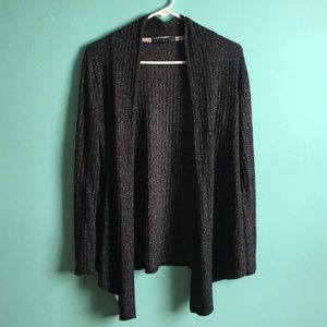 Charcoal swing sweater lightweight ribbed